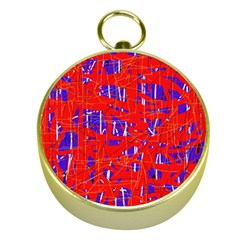 Blue and red pattern Gold Compasses