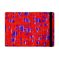 Blue and red pattern iPad Mini 2 Flip Cases