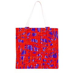 Blue and red pattern Grocery Light Tote Bag