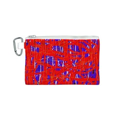 Blue and red pattern Canvas Cosmetic Bag (S)