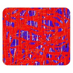 Blue and red pattern Double Sided Flano Blanket (Small)