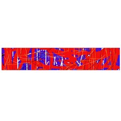 Blue and red pattern Flano Scarf (Large)