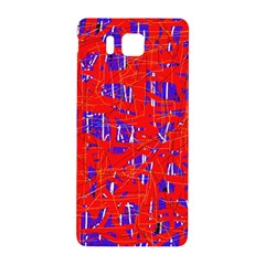 Blue and red pattern Samsung Galaxy Alpha Hardshell Back Case