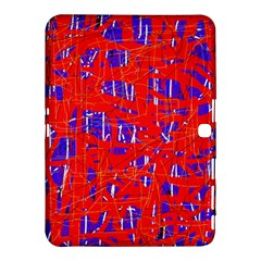 Blue and red pattern Samsung Galaxy Tab 4 (10.1 ) Hardshell Case