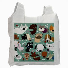 Dog Pattern Recycle Bag (two Side)