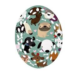 Dog Pattern Ornament (Oval Filigree)