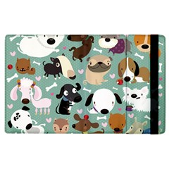 Dog Pattern Apple Ipad 2 Flip Case