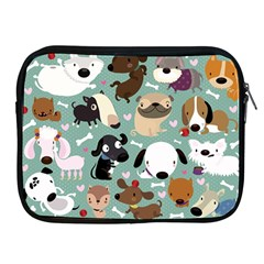 Dog Pattern Apple Ipad 2/3/4 Zipper Cases