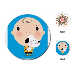 Snoopy Playing Cards (round)