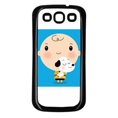 Snoopy Samsung Galaxy S3 Back Case (Black)