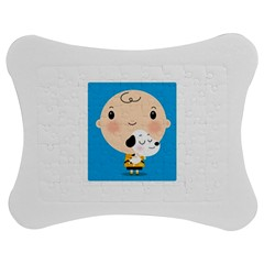 Snoopy Jigsaw Puzzle Photo Stand (Bow)