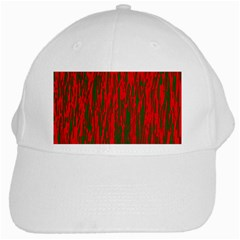 Red and green pattern White Cap