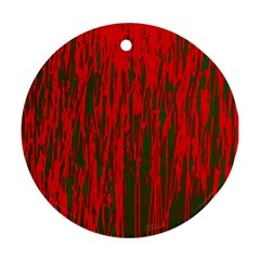 Red and green pattern Ornament (Round)