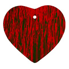 Red and green pattern Ornament (Heart)