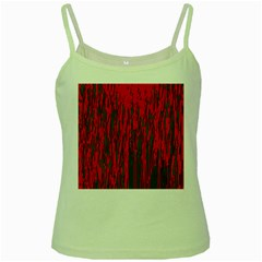 Red and green pattern Green Spaghetti Tank