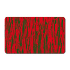 Red and green pattern Magnet (Rectangular)