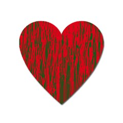 Red and green pattern Heart Magnet