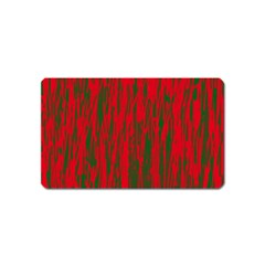 Red and green pattern Magnet (Name Card)