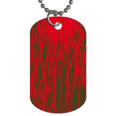 Red and green pattern Dog Tag (One Side)