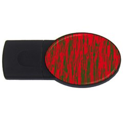 Red and green pattern USB Flash Drive Oval (2 GB)