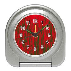 Red and green pattern Travel Alarm Clocks