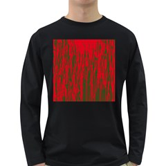 Red and green pattern Long Sleeve Dark T-Shirts