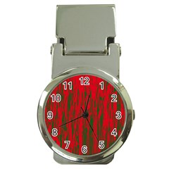 Red and green pattern Money Clip Watches