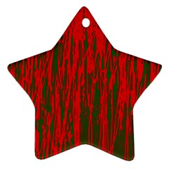 Red and green pattern Star Ornament (Two Sides)