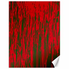 Red and green pattern Canvas 12  x 16