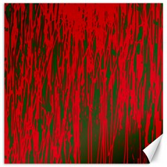 Red and green pattern Canvas 16  x 16