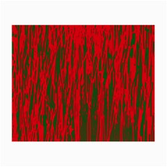 Red and green pattern Small Glasses Cloth (2-Side)