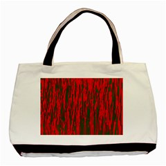 Red and green pattern Basic Tote Bag (Two Sides)