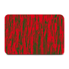 Red and green pattern Plate Mats