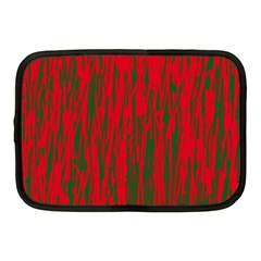 Red and green pattern Netbook Case (Medium)