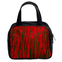 Red and green pattern Classic Handbags (2 Sides)