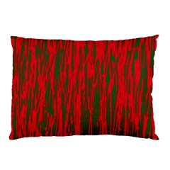 Red and green pattern Pillow Case