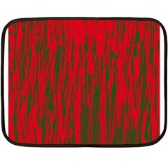 Red and green pattern Double Sided Fleece Blanket (Mini)