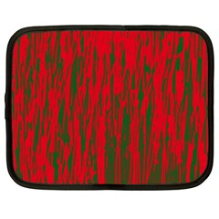 Red and green pattern Netbook Case (XL)