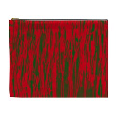 Red and green pattern Cosmetic Bag (XL)