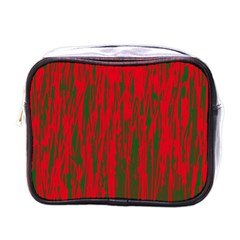 Red and green pattern Mini Toiletries Bags