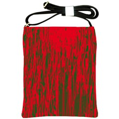 Red and green pattern Shoulder Sling Bags