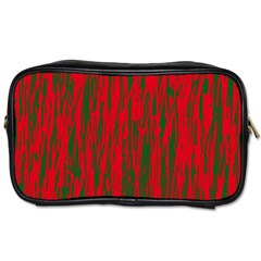 Red and green pattern Toiletries Bags