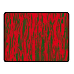 Red and green pattern Fleece Blanket (Small)
