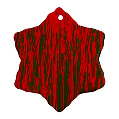 Red and green pattern Ornament (Snowflake)