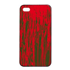 Red and green pattern Apple iPhone 4/4s Seamless Case (Black)