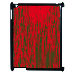 Red and green pattern Apple iPad 2 Case (Black)