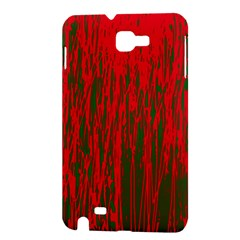 Red and green pattern Samsung Galaxy Note 1 Hardshell Case