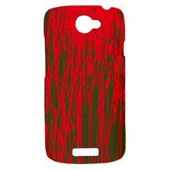 Red and green pattern HTC One S Hardshell Case