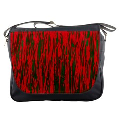 Red and green pattern Messenger Bags