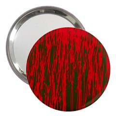 Red and green pattern 3  Handbag Mirrors